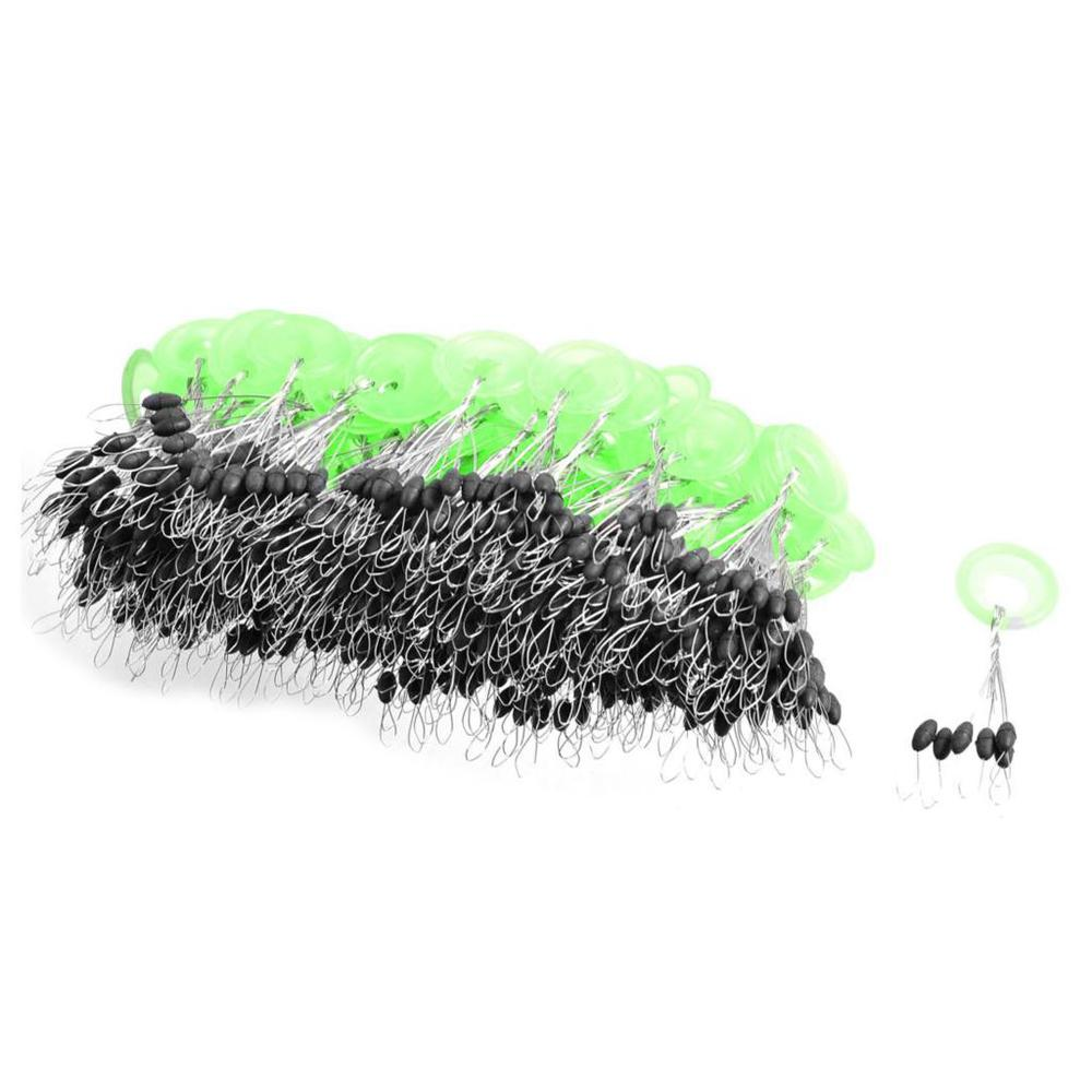 [해외] 100 Pcs Mini 6 in 1 Black Plastic Oval Fishing Bobb..