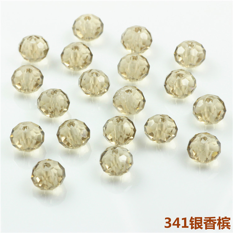 6*8mm Crystal Round beads (72pcs/lot )wholesale Boncuk Pedras Cristal Lustre Silver Champion Chinese Crystal Round Beads Strand(China (Mainland))