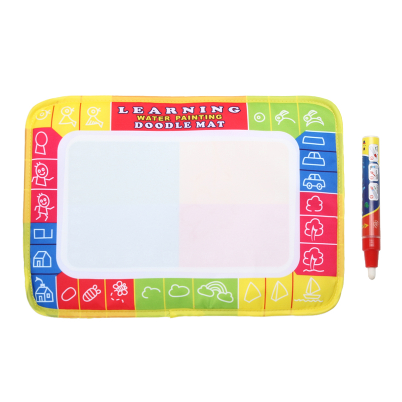29*19cm New Mini Water Writing Painting Drawing Mat Aquadoodle Board &Magic Pen Water Drawing Board Kid Doodle Play Mat(China (Mainland))