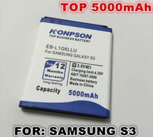 New Arrivals 5000mah EB-L1G6LLU For Samsung Galaxy S3 Battery,i9300 battery,I747 / L710 / I9308 T999 / I9305 / M440S free shipp(China (Mainland))