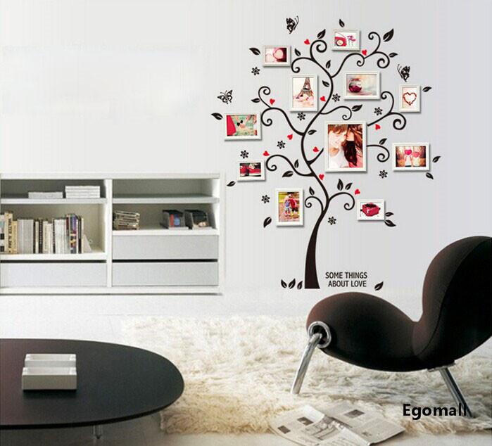Arbre cadre photo bricolage 3d vinyle stickers muraux home decor conception salon canap affiche for Cadre photo mural design