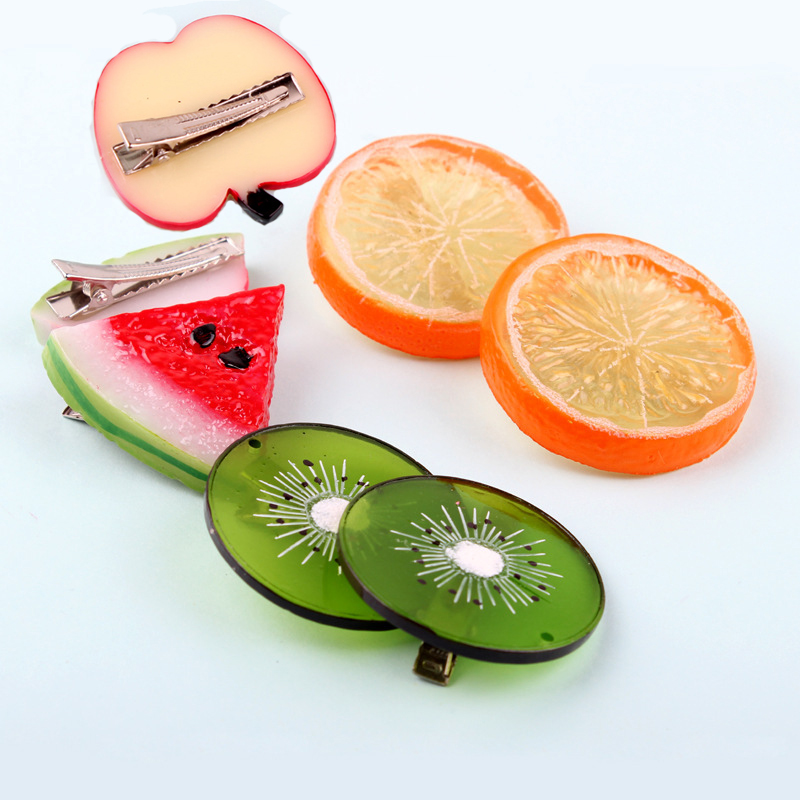 New Summer Style Many Patterns Fruits Slice Hair font b Accessories b font for Girls Women