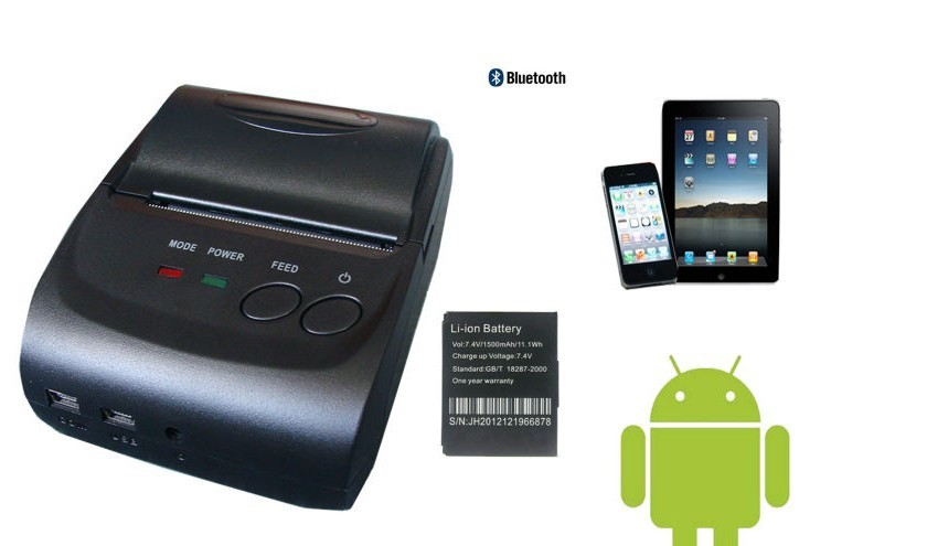 2Inch Standby Time 5~7 days Android 4.2.2 Bluetooth Wireless Mobile 58mm Mini Thermal Receipt Printer Portable with SDK(China (Mainland))
