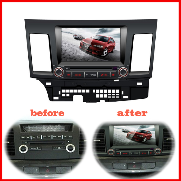 car DVD player Mitsubishi lancer bluetooth USB Analog TV IPOD Steering wheel control Touch Screen AM FM - Shenzhen MyHung Company Store store