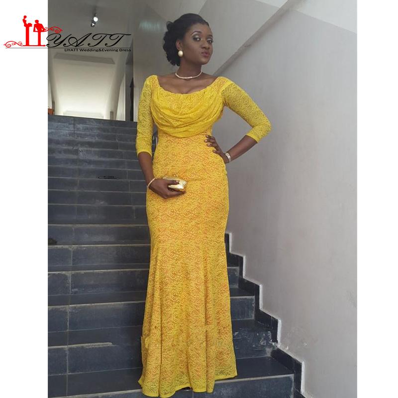 Желтые длинные платья для выпускного бала