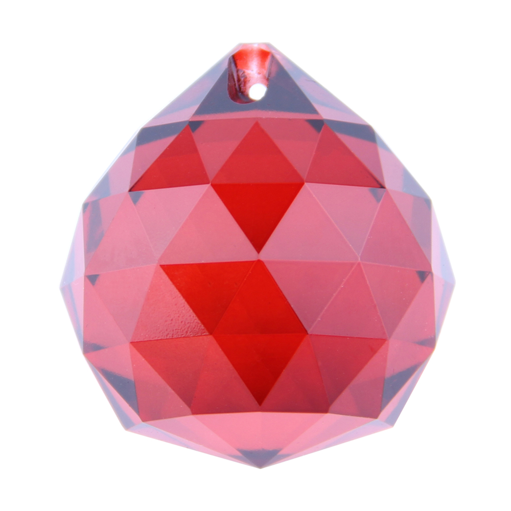 Red 20mm 10pcs/lot Crystal Chandelier K9 Ball Glass Lighting Parts Home Decoration Hanging Crystal Ball For Sale(China (Mainland))