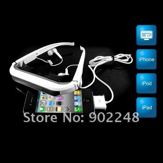 "Free Shipping !84"" Virtual Screen Glasses Video Eyewear 84inch monitor for iPhone/ iPad/ iPod"