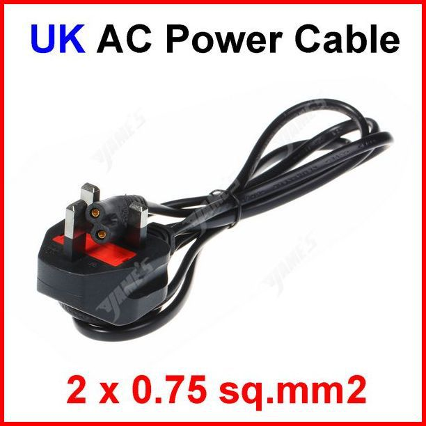 UK AC Power Cable Cord With Fuse 1.5m 5FT 0.75 SQ.MM2 For Battery Charger PS2 3 Adapter Laptop Wholesale(China (Mainland))
