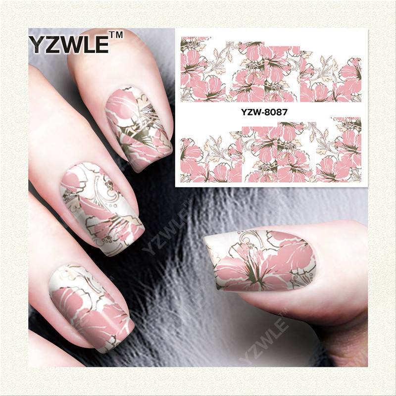 YZWLE 1 Sheet DIY Decals Nails Art Water Transfer Printing Stickers Accessories For Manicure Salon YZW-8087(China (Mainland))