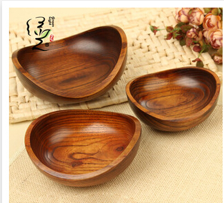 Natural wooden Bowls tableware Unavailable Microwave banana bowl rice storage box Creative bamboo Bowl kids baby 10pcs(China (Mainland))