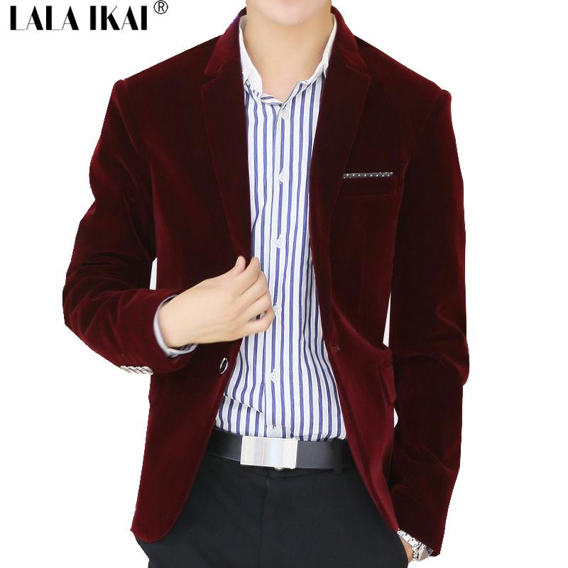 Traje Hombre 2016 New Fashion Style Blazer Men Slim Top Design Mens Velvet Blazers Single Button Ternos Mens Blazers SMD0042-5(China (Mainland))