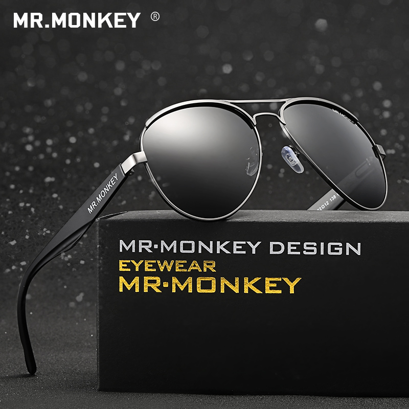 MR.MONKEY BRAND DESIGN 2016 NEW FASHION MEN AND WOMEN UNISEX POLARIZED HIGH QUALITY SUNGLASSES PILOT SUNMMER STYLE(China (Mainland))