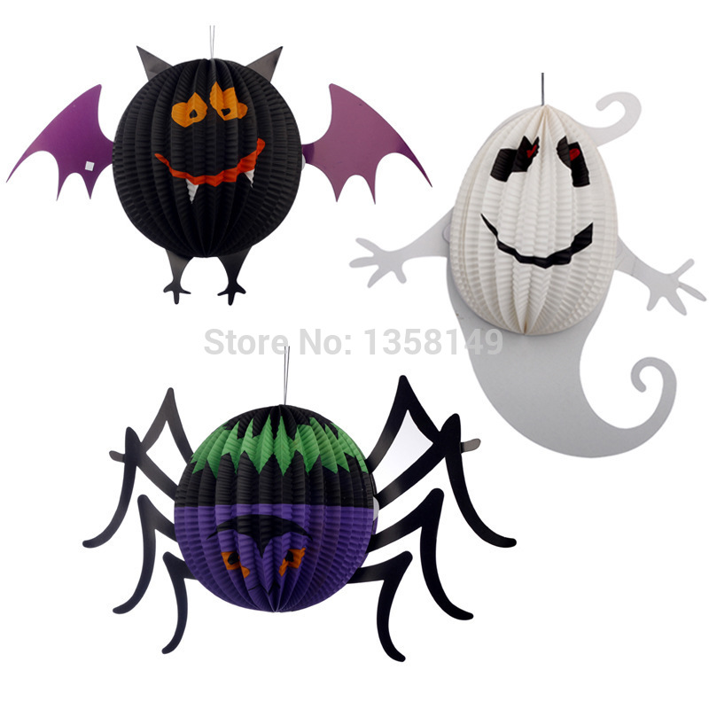 3pcs/Lot Halloween decoration props horror party supplies chinese lanterns ghost pumpkin halloween party paper lantern(China (Mainland))