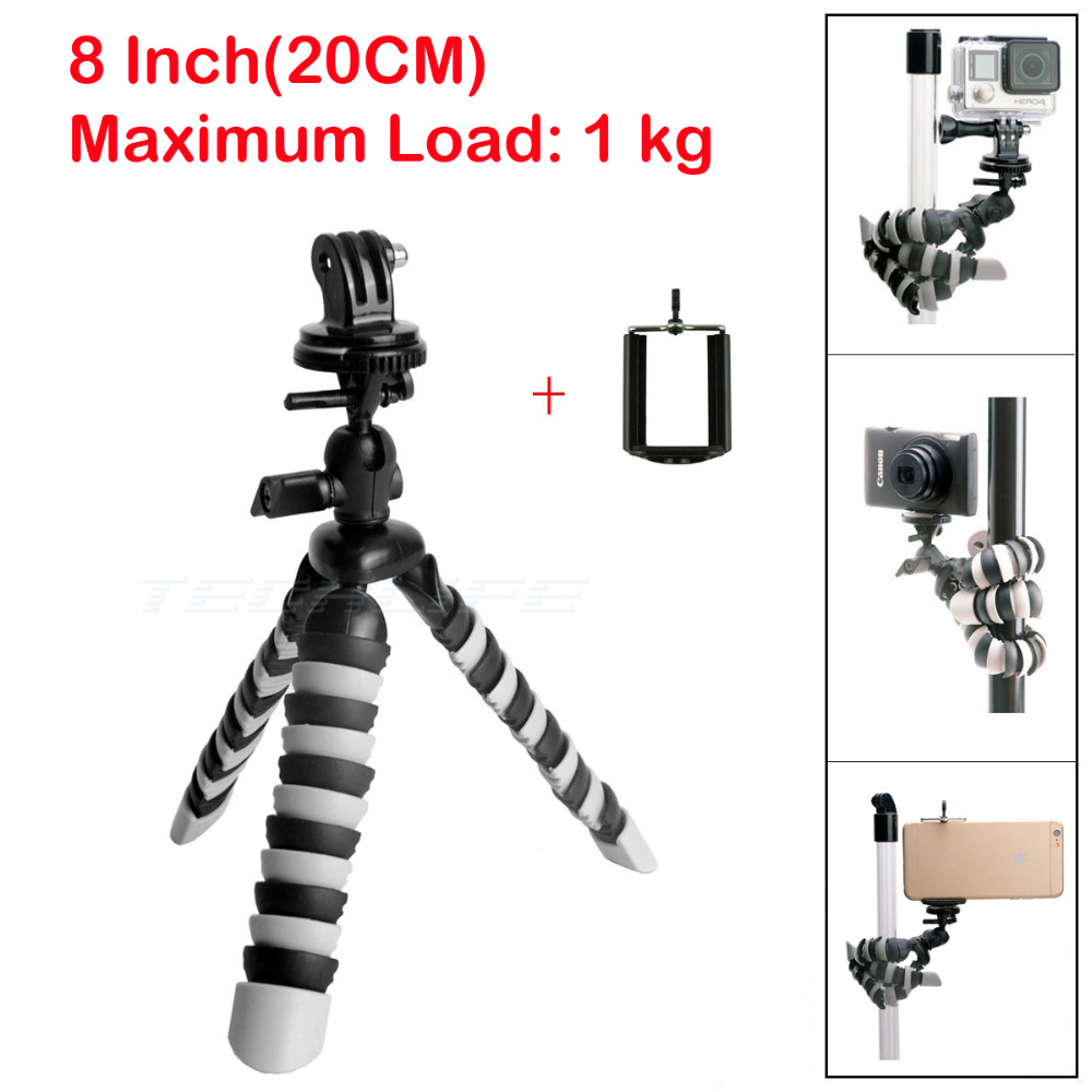 "Mini Mobile Phone Stand Tripod Flexible Octopus Desktop holder Mount Tripod Gorillapod 8"" for iPhone 7 Huawei GoPro camera(China (Mainland))"