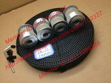 4pcs 24 teeth HTD 3M Timing Pulley Bore 8mm + 5Meters 3M open ended timing belt width 15mm for laser engraving CNC machines(China (Mainland))