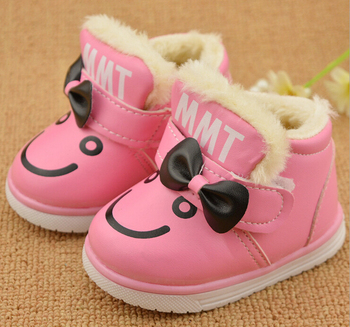 baby shoes for girls winter boots kids warming cotton-padded shoes child girls plush cotton warm baby toddler boots waterphoof
