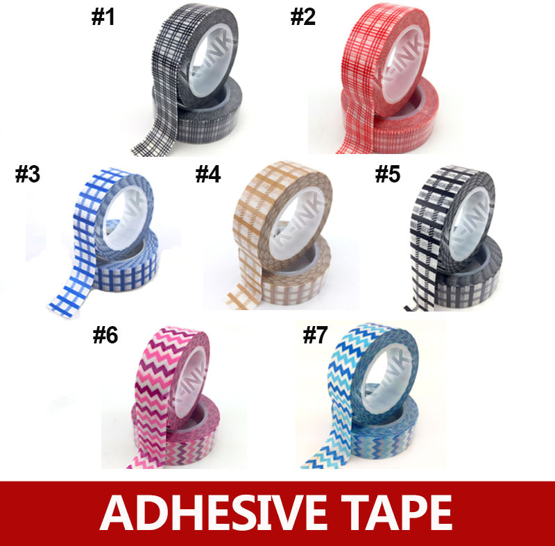 30pcs / lot, 10 meters grid / wave stripe washi masking tape , mesh decorative single color tape for DIY scrapbooking<br><br>Aliexpress
