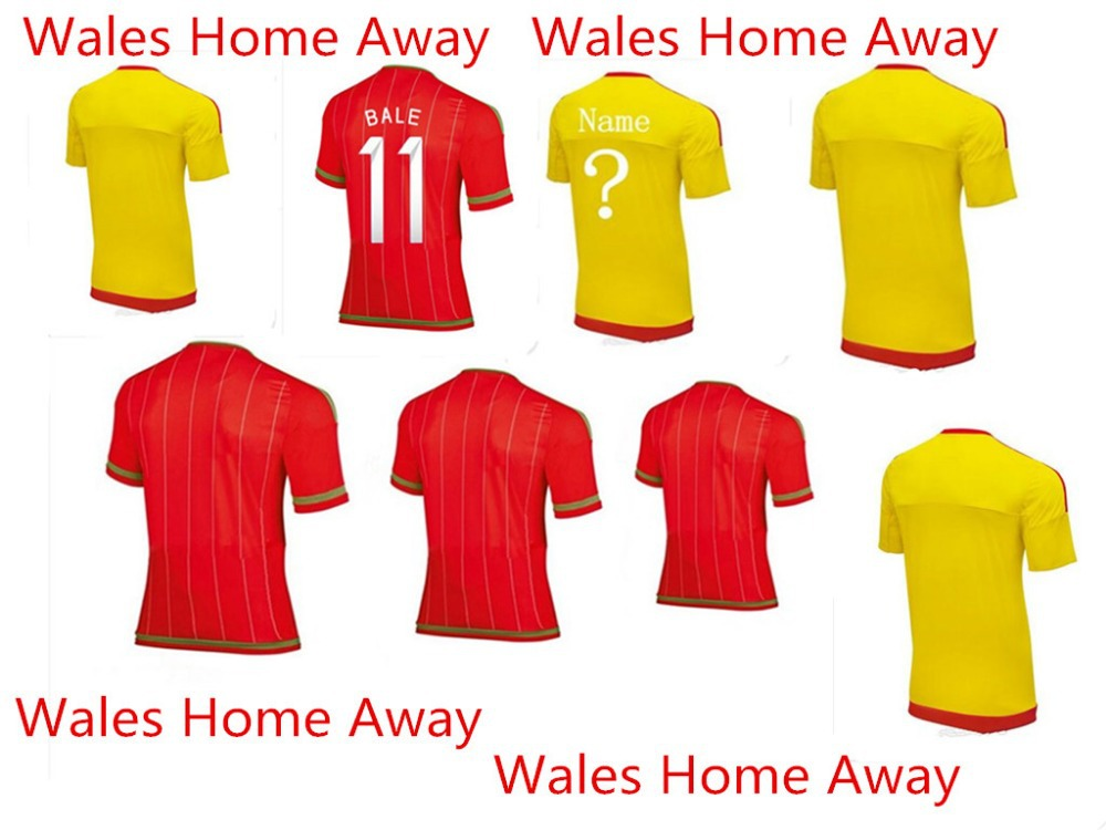 1516 New Hot Wales Away Mins jersey Thailand quality shirt bell player Ramsay(China (Mainland))