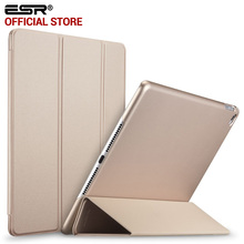 Case for iPad Air 2, ESR Rubber Cover Ultra Slim Perfect Fit Leather Smart Case Rubberized Back Cover for Apple iPad 6(China (Mainland))