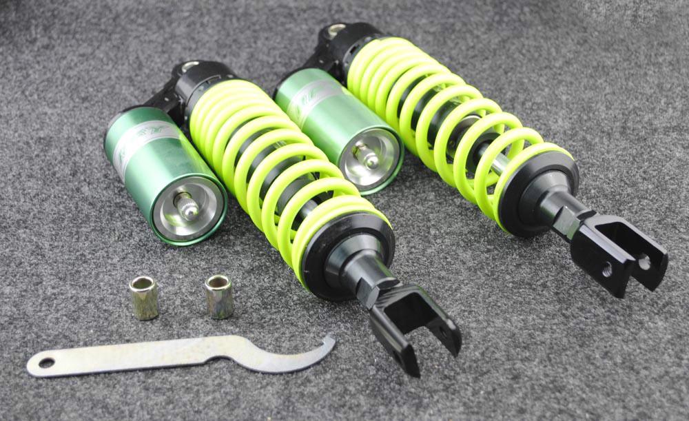 "Green Purple 13.5"" 340MM RFY air gas Shock Absorber Fit to 50cc ~ 300cc Bifurcation quad Dirt bikes,Gokart,ATV,motorcycle(China (Mainland))"