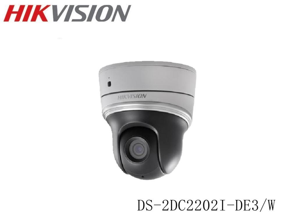 HIKVISION Original DS-2DC2202I-DE3/W 2MP Wifi Mini PTZ CCTV IP Camera wireless 3-6mm Support PoE security video surveillance(China (Mainland))