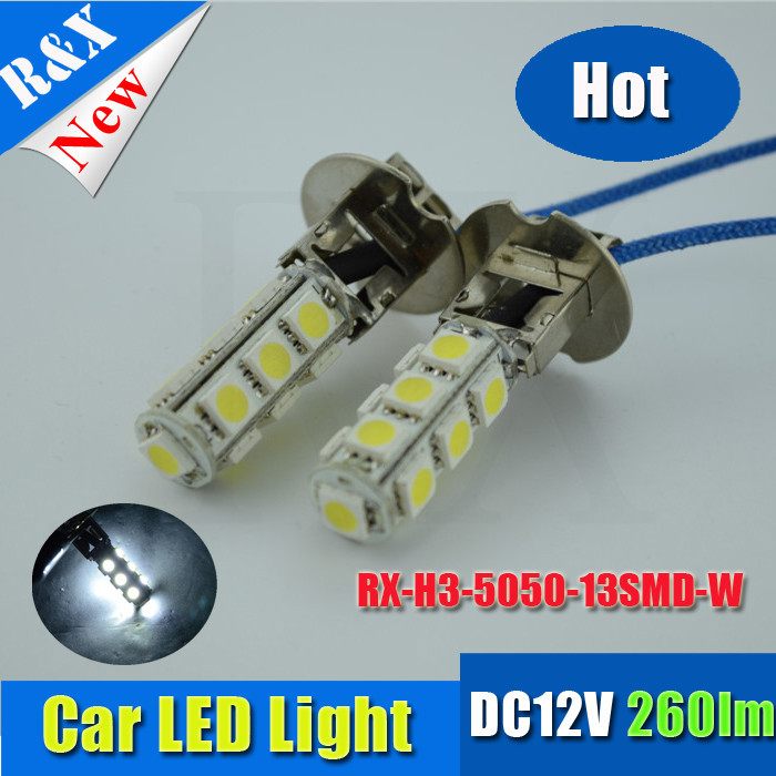 Promotion!H1 High Power 5050 SMD 13 LED White Car Auto Headlight Fog Head Lights Lamp Bulb DC12V - RX-autoled002 store