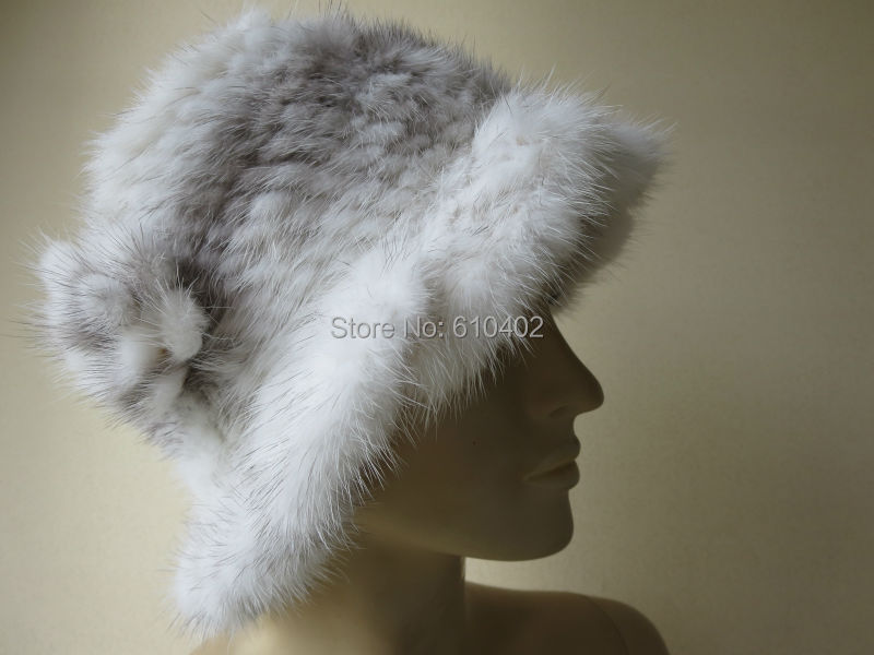 free shipping  /Real mink   knitted  womans hat /see pictureОдежда и ак�е��уары<br><br><br>Aliexpress