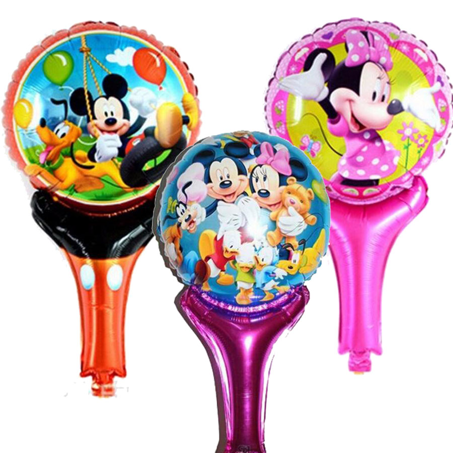 New Minnie Mickey balloons inflatable air toys helium balloons for baby kid toy stick clapper , party supplies baby boy shower(China (Mainland))