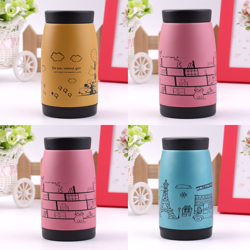 2015 New Popular Stainless steel vacuum cup belly cup portable thermos cup Water Bottle Office Vacuum 250ml Top Quality(China (Mainland))