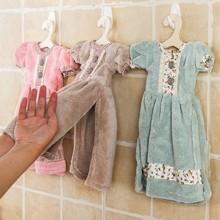 princess skirt hand towel Originality water uptake Coral down Hanging children wipe hand terry D15(China (Mainland))