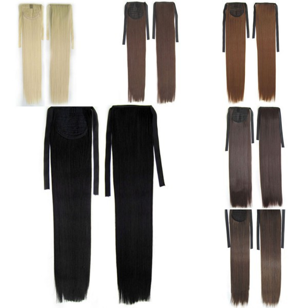 Long Lady Women Straight Claw Clip Ponytail Pony Tail Hair Extension(China (Mainland))