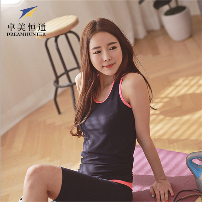 Ladies Fitness Bra Breathable Quick Dry Gym Sports Tee Tops Slim Yoga Shirts Women Bodybuilding Jogging Vest - 8 store