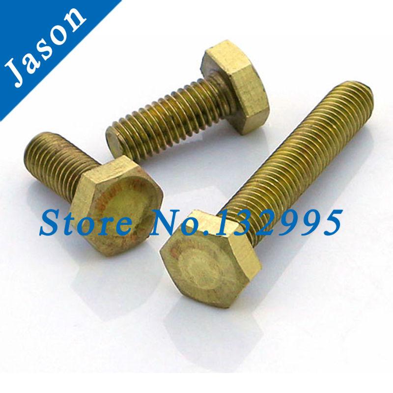 M8*20  Brass hexagon bolt  Brass  screw  Metric Thread  Brass hex bolt M8*L<br><br>Aliexpress