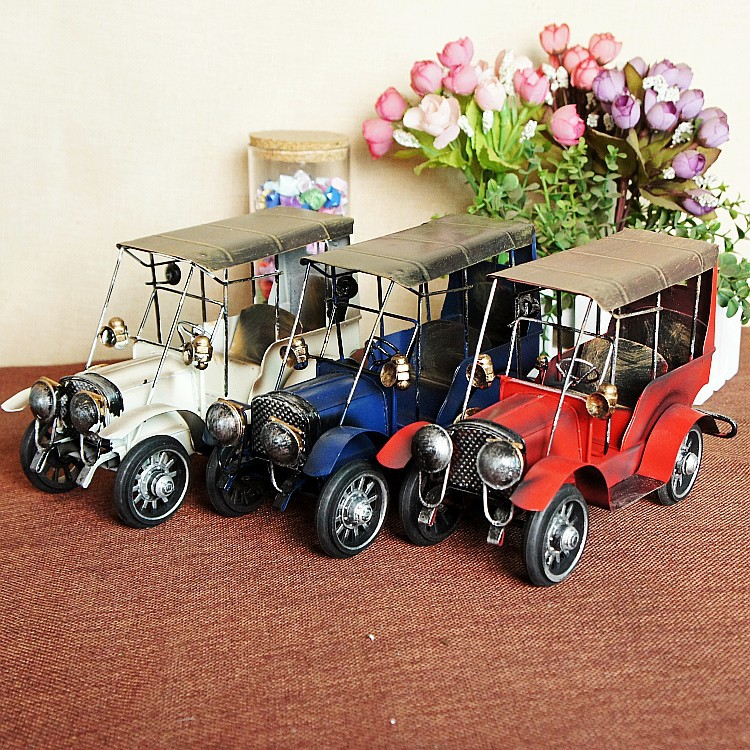 Metal model car / retro classic cars model / classic retro home decor creative crafts ornaments