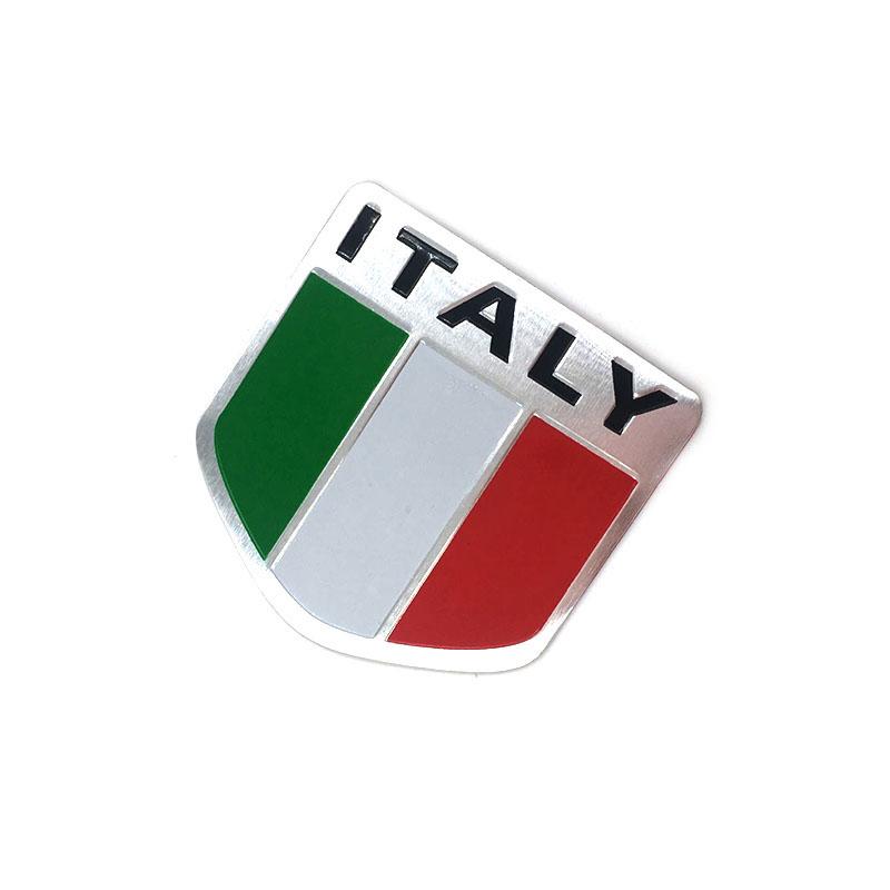 3D Aluminum Italy Map National Flag Car Sticker Car Styling For Fiat Iveco Lamborghini Alfa Romeo DeTomaso Maserati Zagato(China (Mainland))
