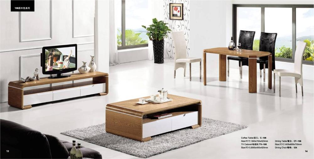 Living room coffee table tv cabinet and dinning table set for 7 piece living room set with tv