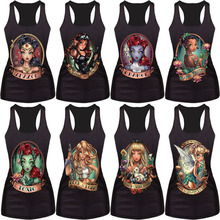 New 2015 women summer 3d vests The Little Mermaid vest Ariel Sailor Moon Cartoon print camisole Sexy fashion punk tank tops(China (Mainland))