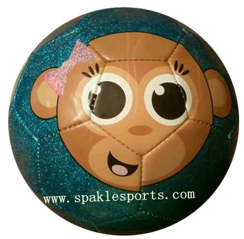 Official hand sewn football & soccer ball, cartoon design football 500pcs/lot, free logo printing(China (Mainland))