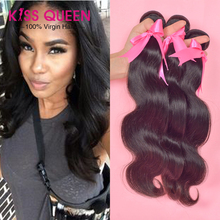 Queens hair products brazilian body wave 3 pcs thick virgin brazilian hair weave bundles free shipping 100% human hair no tangle(China (Mainland))