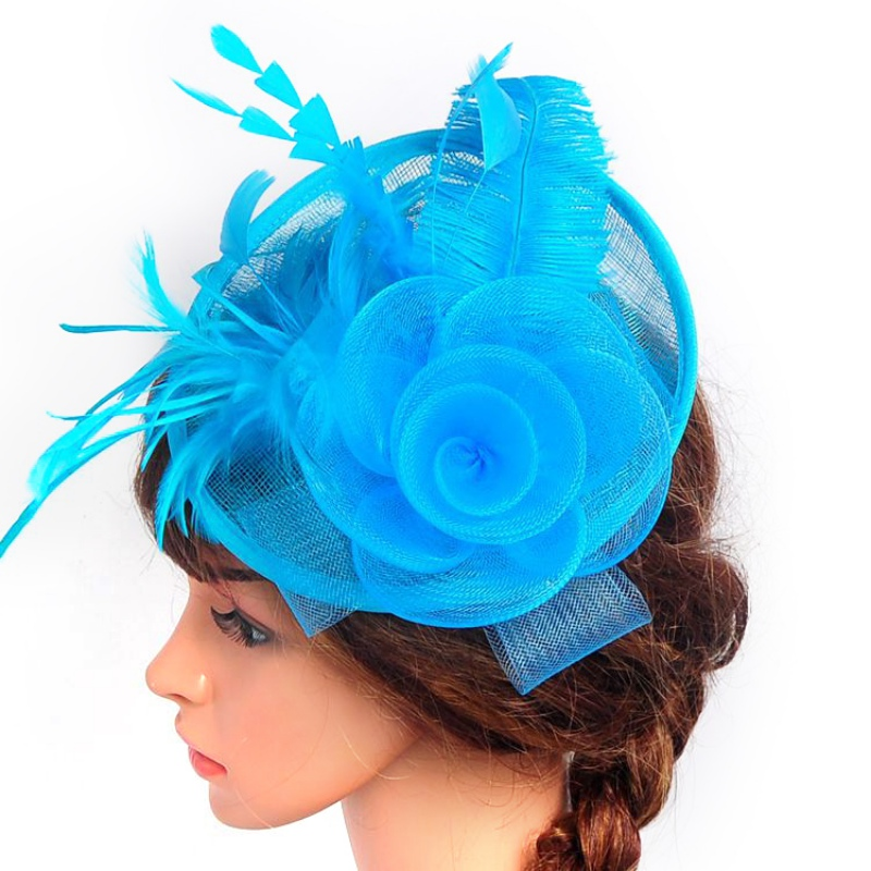 New Women Veil Feather Hair Clip Hat Fascinator Wedding Cocktail Party Mesh Decor 3459(China (Mainland))