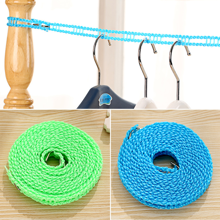 Fence type windproof clothesline, Japanese clothesband slip hook rope, rope ladder structure in 5pcs(China (Mainland))