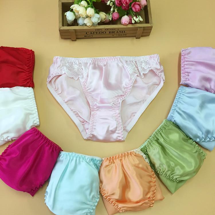 10pcs/lot Mulberry silk female silk briefs pure silk female panties lace decoration female pure silk pantiesОдежда и ак�е��уары<br><br><br>Aliexpress
