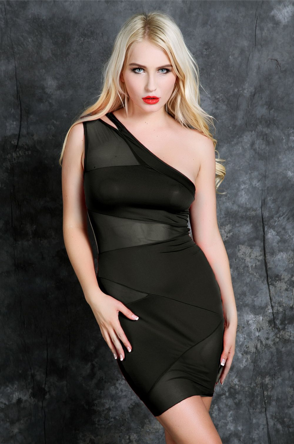 2014 Sexy Nightclub Bandage Dress Summer Women's Party Evening Shoulder Mini Clubwear - tttstar store
