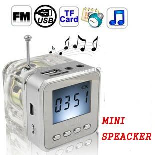 NIZHI TT-028 LED DISPLAY MINI SPEAKER USB FM SD FOR IPHONE IPAD IPOD MP3 PC DA0860A1#M4(China (Mainland))