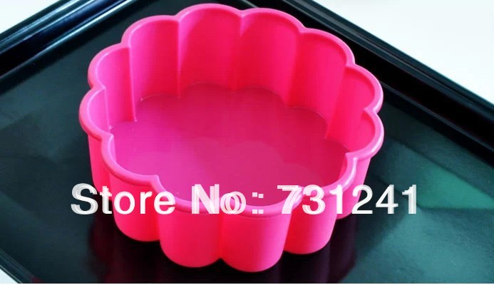 8 inch 12 Petals Silicone Flower Cake Pan Silicone Bakeware Baking Mould high Quality 100% Food Grade(China (Mainland))