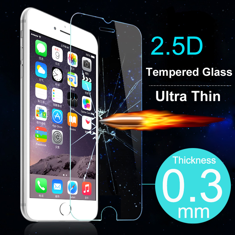 Top Quality Ultra Thin Tempered Glass Screen Protector Case For iPhone 4 4S 5 5S 5C
