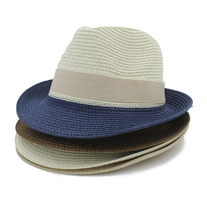 42e49700faa British Style Maison Michel panama hat Men Women Fedorashat jazz hat  contracted Straw summer beach hat gangste Hat In Stock