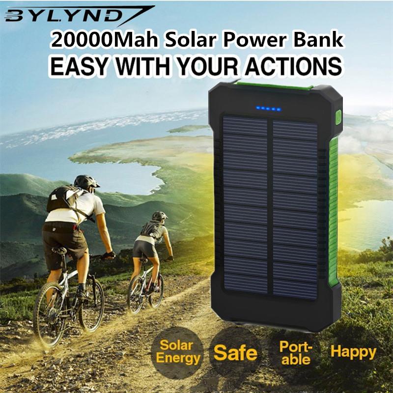 Dual USB solar Power Bank 20000mah Backup Powerbank Portable Mobile Phone External Battery solar Charger For iPhone Samsung(China (Mainland))