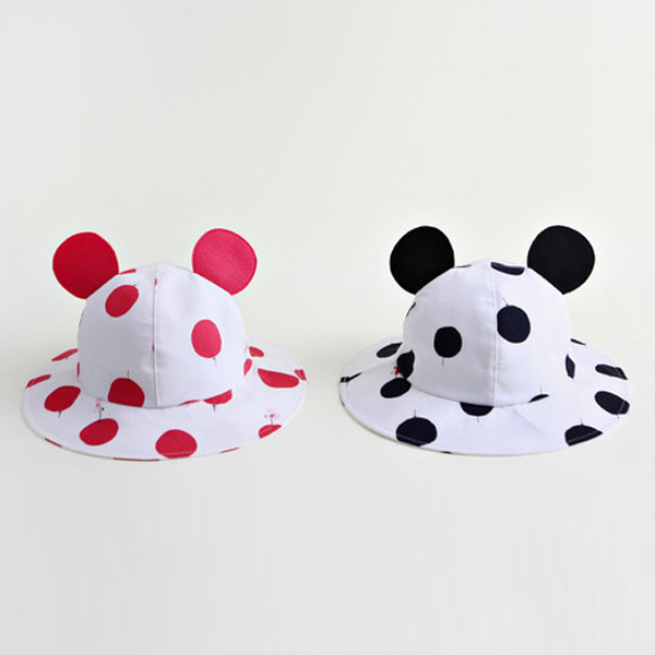Cute Infant Toddler Baby Cotton Casual Hat Kids Boys Girls Polka Dots Outdoor Bonnet Hats Baby Cap Sun Hat 1-12Months(China (Mainland))
