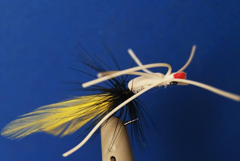 6 Pcs Foam Hopper Rubberleg Flies fly fishing 6# W/ Free Box L664(China (Mainland))
